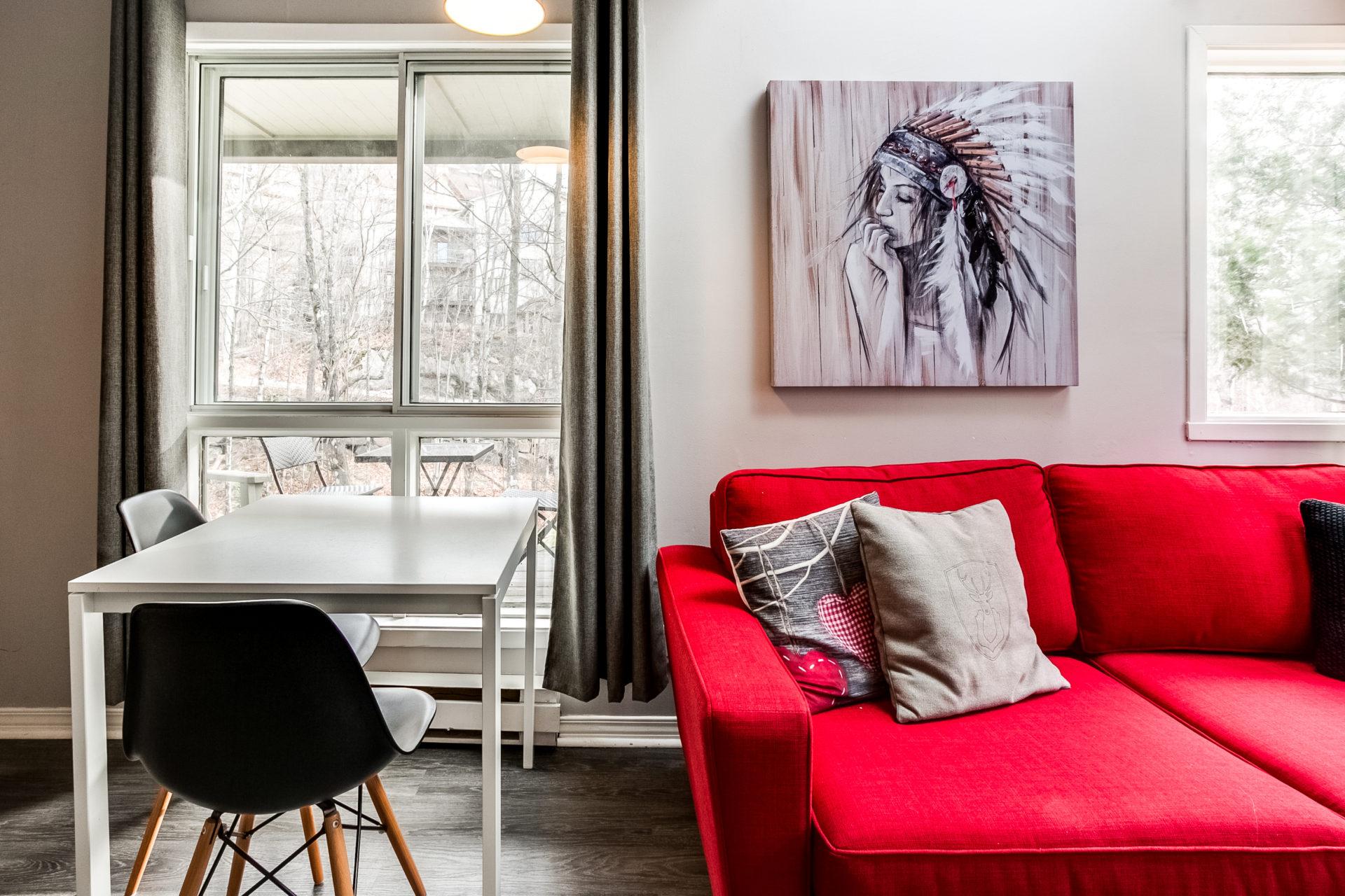 Condo For Rent Mont Tremblant Le Riverside Condos Mont Tremblant # Table Tv A Pied Unique But